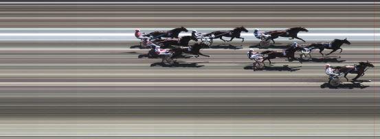 Målfoto for løp 2 på bane BJ den 08.06.2014
