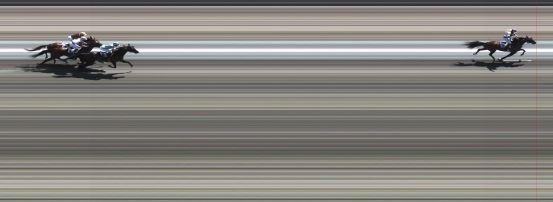 Målfoto for løp 4 på bane BJ den 08.06.2014
